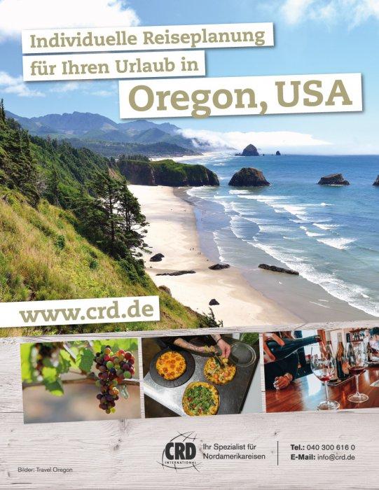 1/1 Seite Printanzeige - Oregon USA