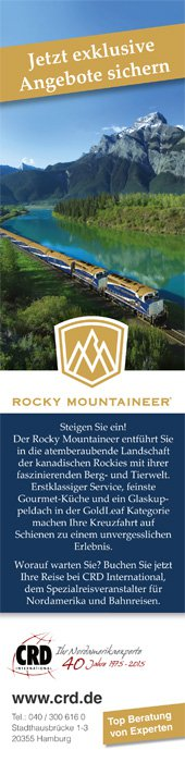 1/3 Anzeige Rocky Mountaineer
