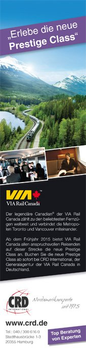 1/3 Printanzeige - VIA Rail