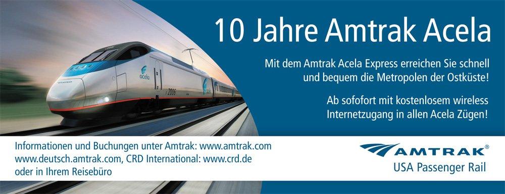 Amtrak Anzeige