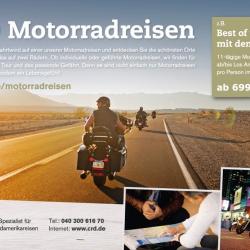 1/2 Seite Printanzeige quer Motorrad